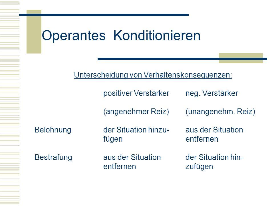 Unterscheidung von Verhaltenskonsequenzen: