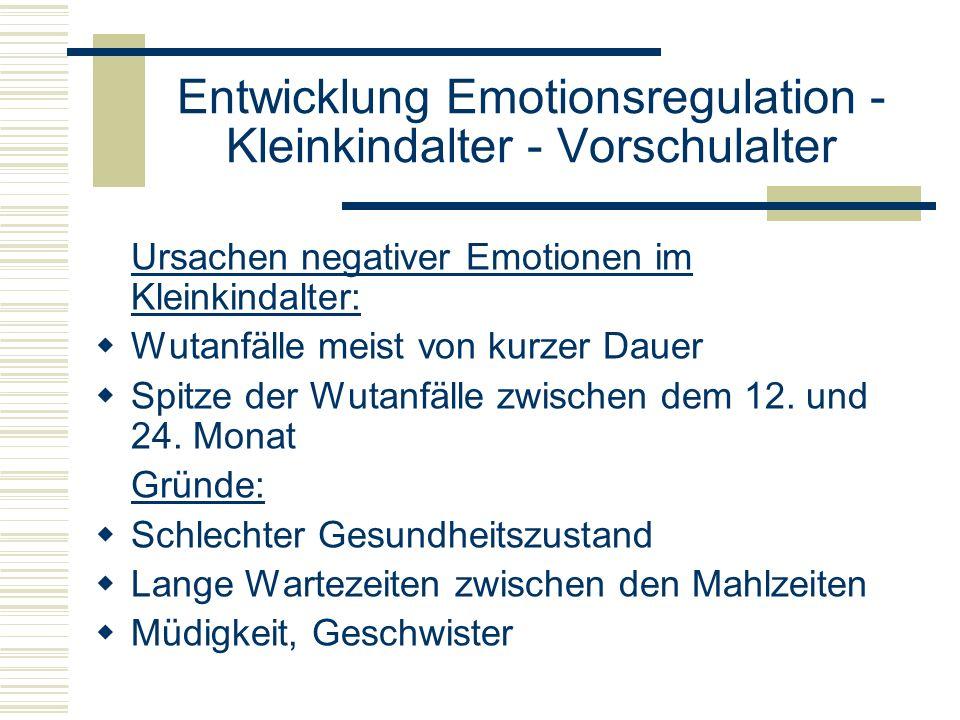Entwicklung Emotionsregulation - Kleinkindalter - Vorschulalter