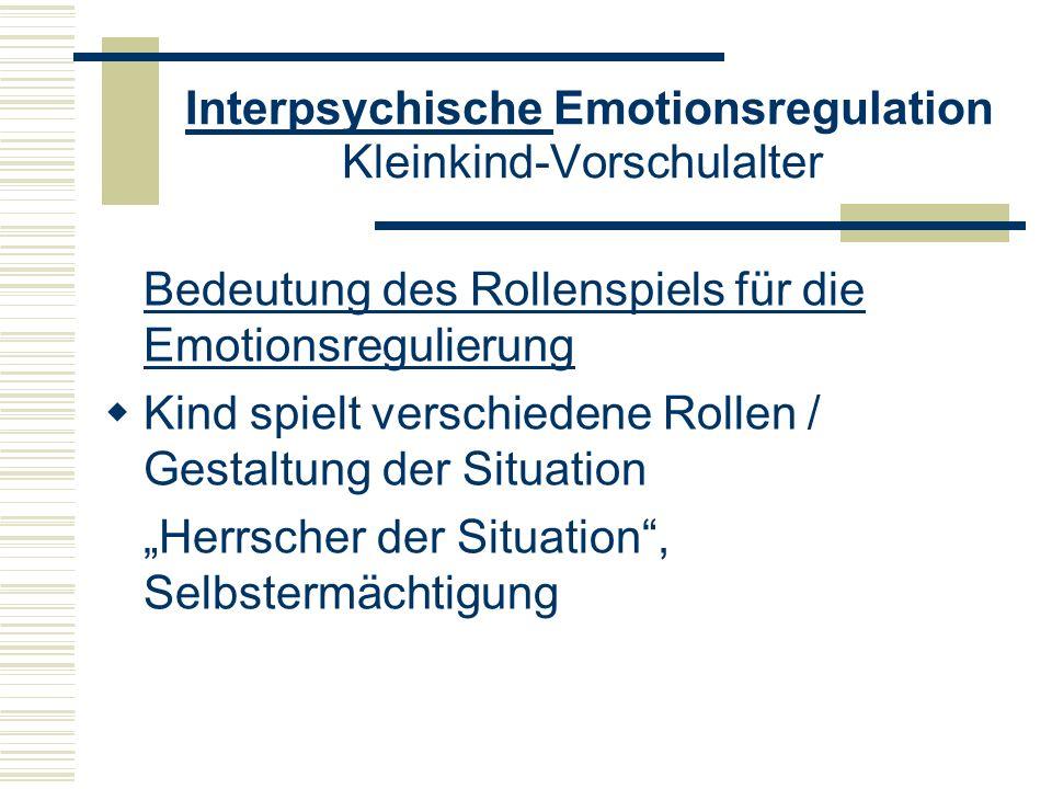 Interpsychische Emotionsregulation Kleinkind-Vorschulalter