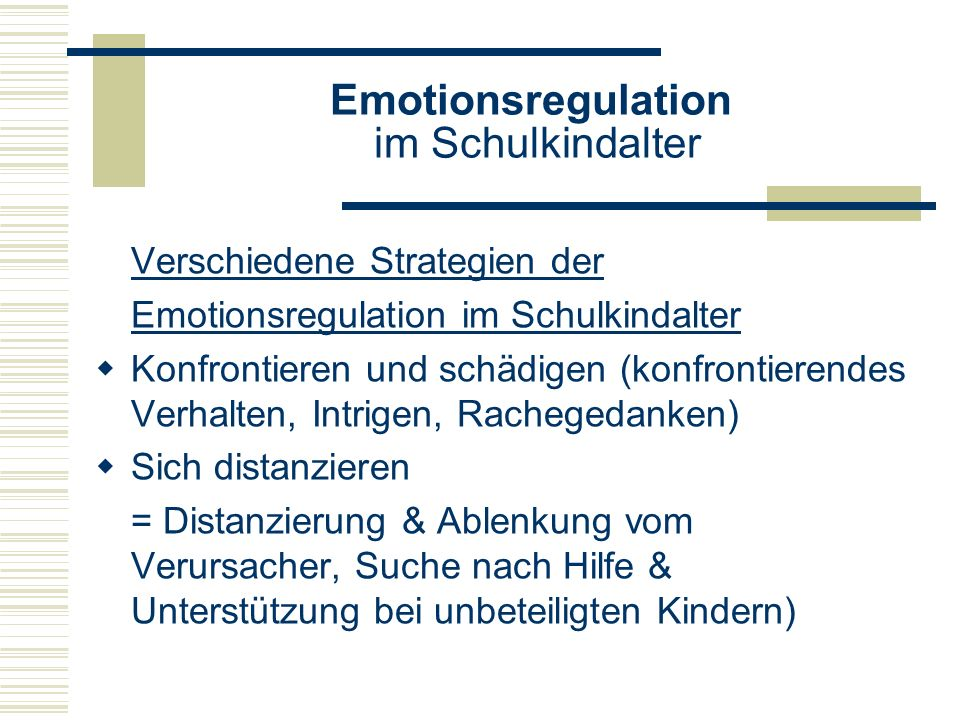Emotionsregulation im Schulkindalter