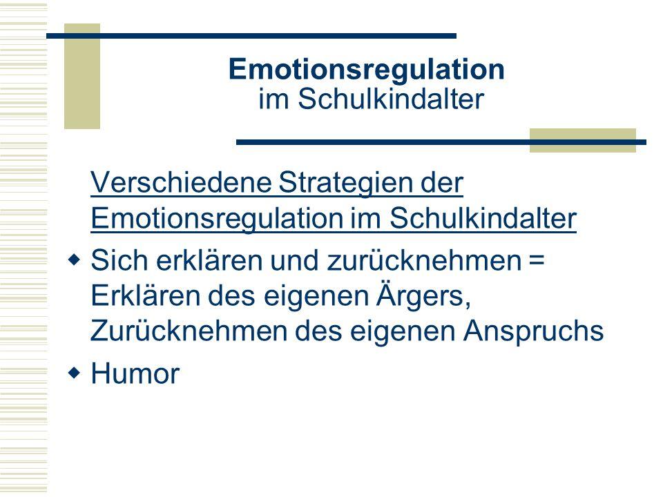 Emotionsregulation im Schulkindalter