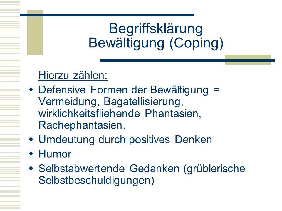 Begriffsklärung Bewältigung (Coping)