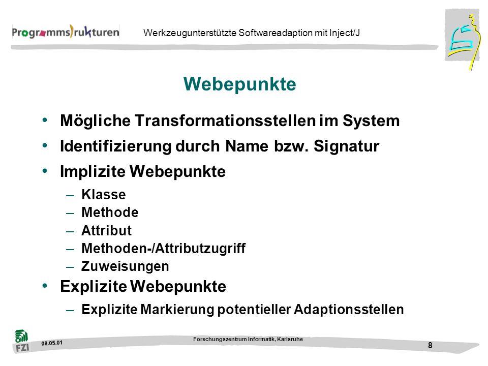 Webepunkte Mögliche Transformationsstellen im System