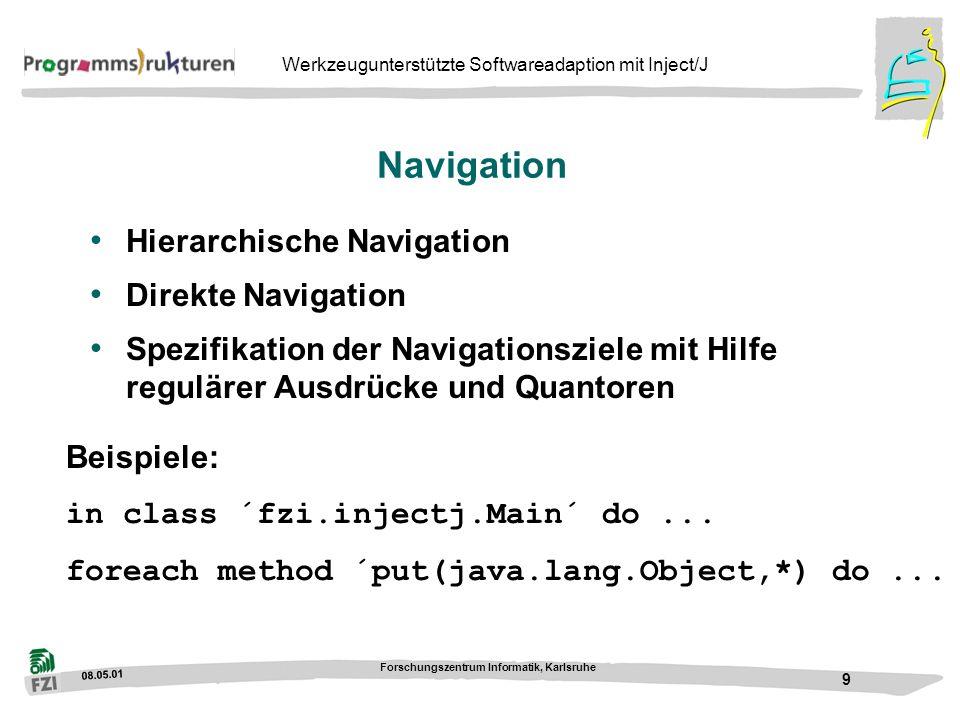 Navigation Hierarchische Navigation Direkte Navigation