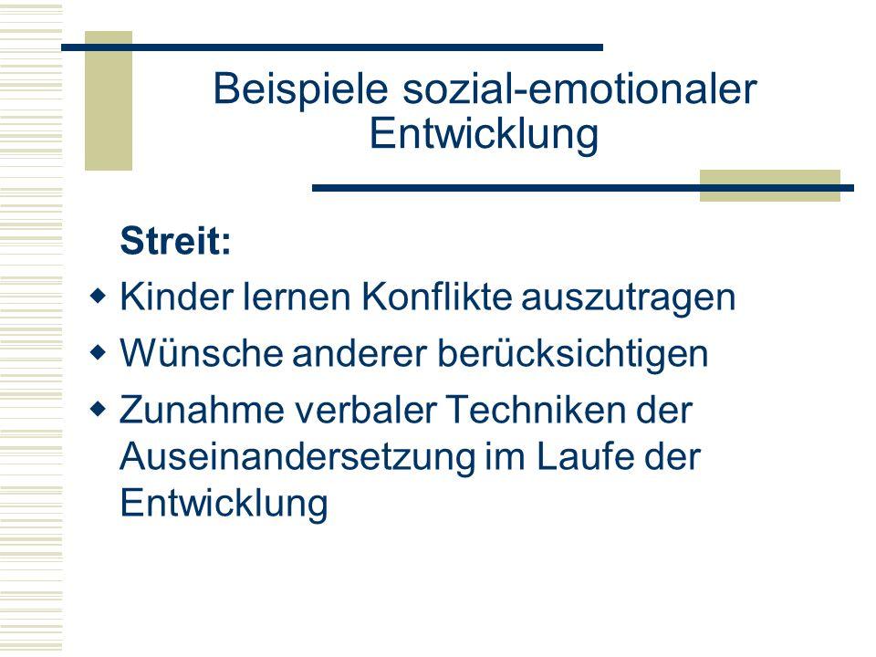 Beispiele sozial-emotionaler Entwicklung