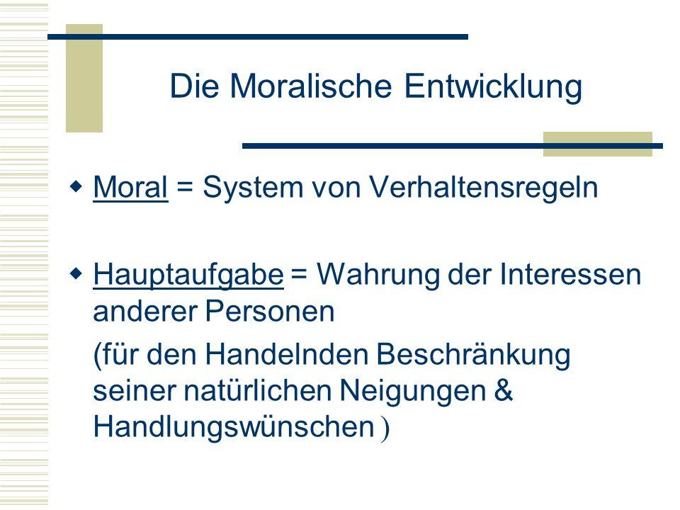 Die Moralische Entwicklung