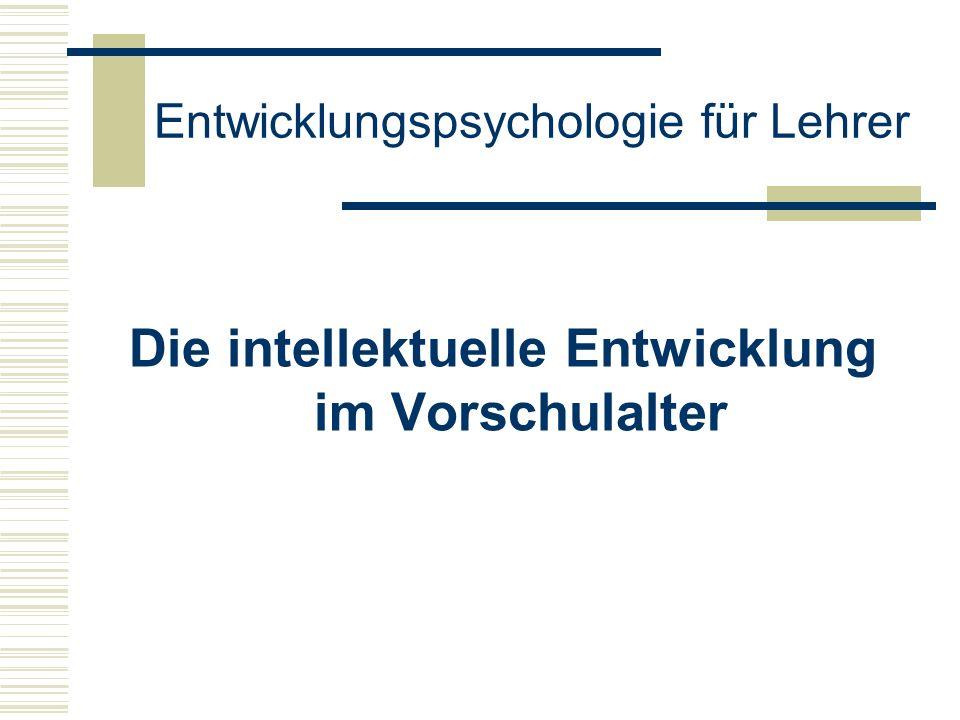 Entwicklungspsychologie für Lehrer