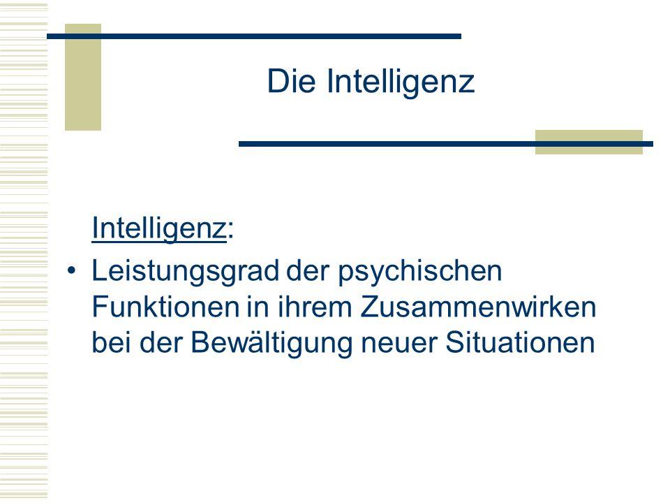 Die Intelligenz Intelligenz: