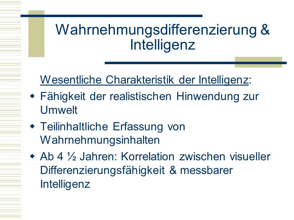 Wahrnehmungsdifferenzierung & Intelligenz