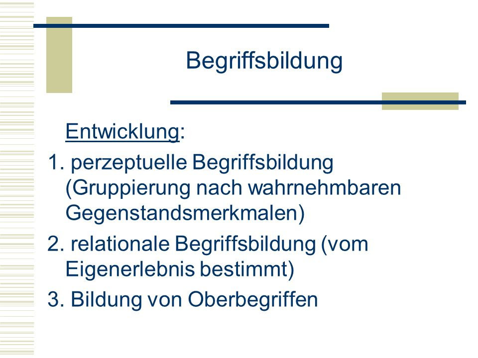 Begriffsbildung Entwicklung:
