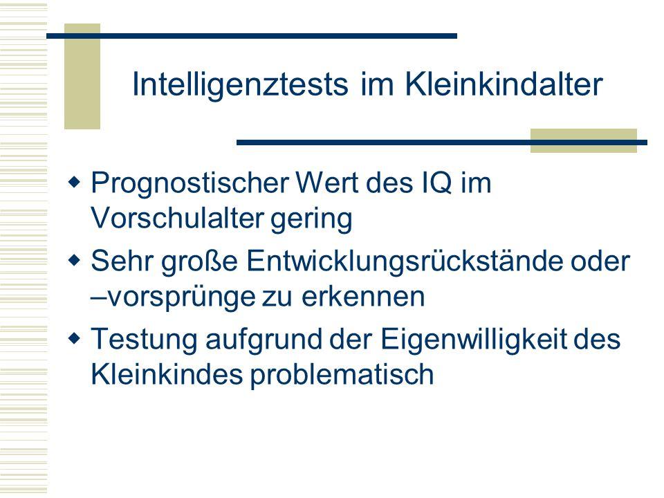 Intelligenztests im Kleinkindalter