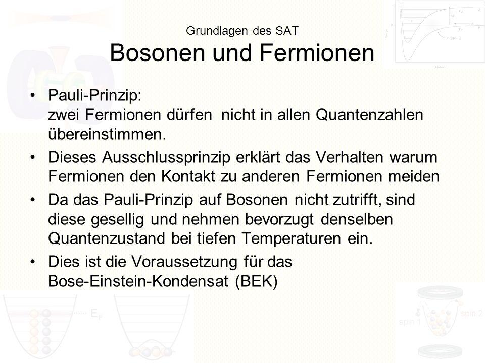 Grundlagen des SAT Bosonen und Fermionen