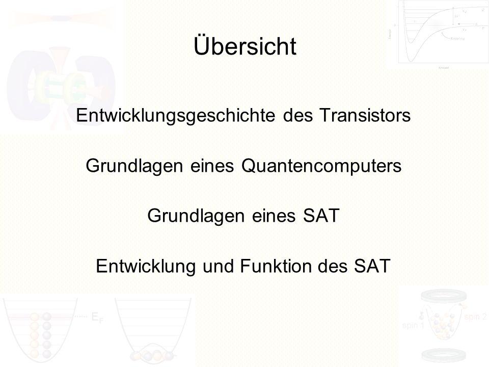 Übersicht Entwicklungsgeschichte des Transistors