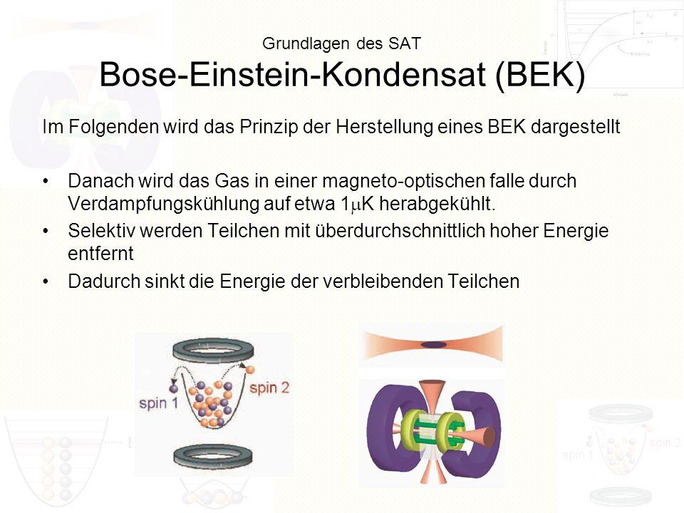 Grundlagen des SAT Bose-Einstein-Kondensat (BEK)