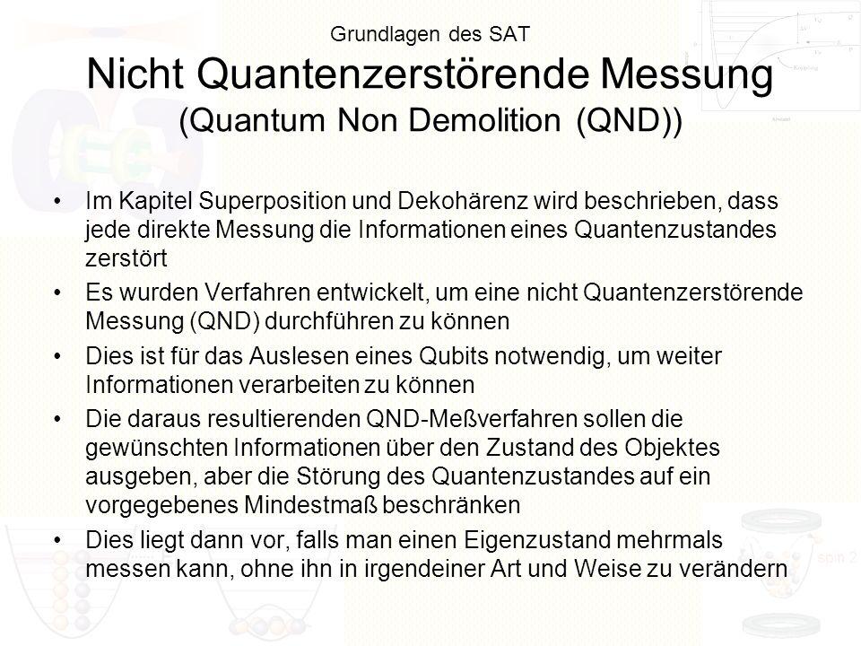Grundlagen des SAT Nicht Quantenzerstörende Messung (Quantum Non Demolition (QND))