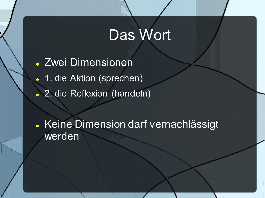 Das Wort Zwei Dimensionen Keine Dimension darf vernachlässigt werden