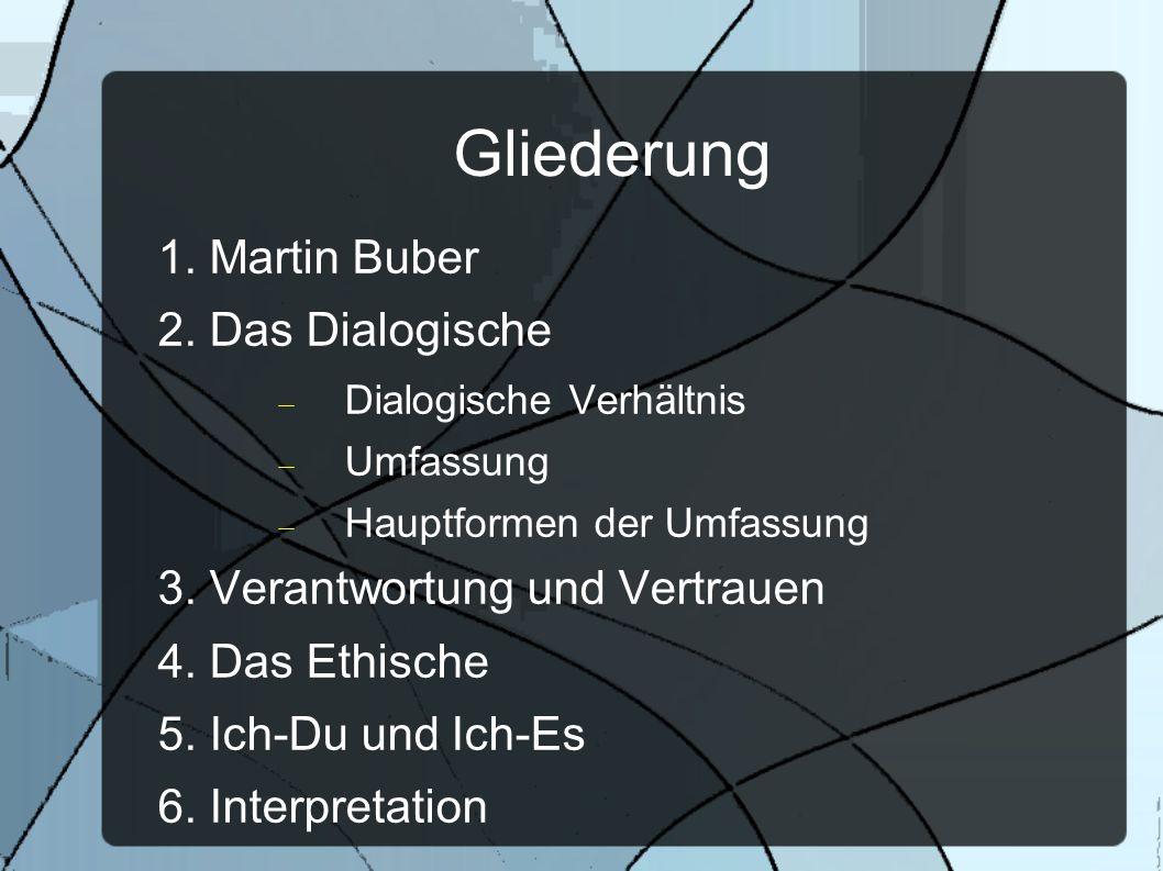 Gliederung 1. Martin Buber 2. Das Dialogische