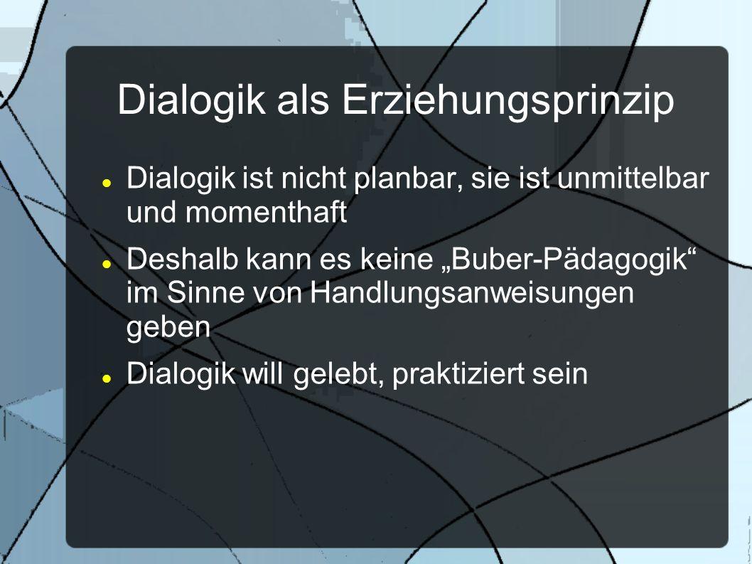 Dialogik als Erziehungsprinzip