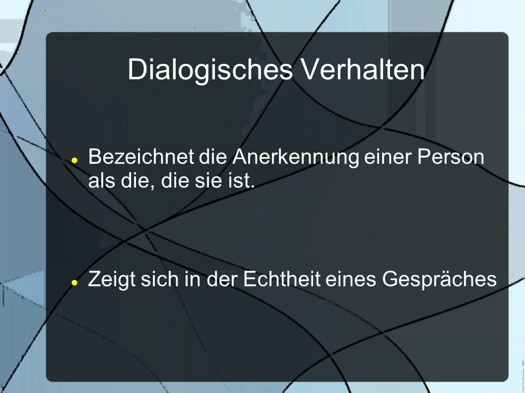 Dialogisches Verhalten