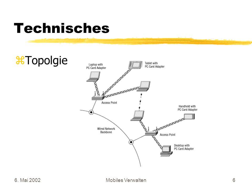 Technisches Topolgie 6. Mai 2002 Mobiles Verwalten