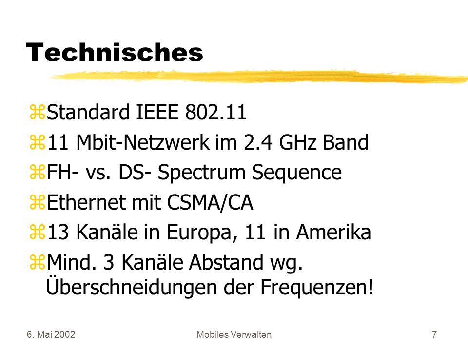 Technisches Standard IEEE 802.11 11 Mbit-Netzwerk im 2.4 GHz Band