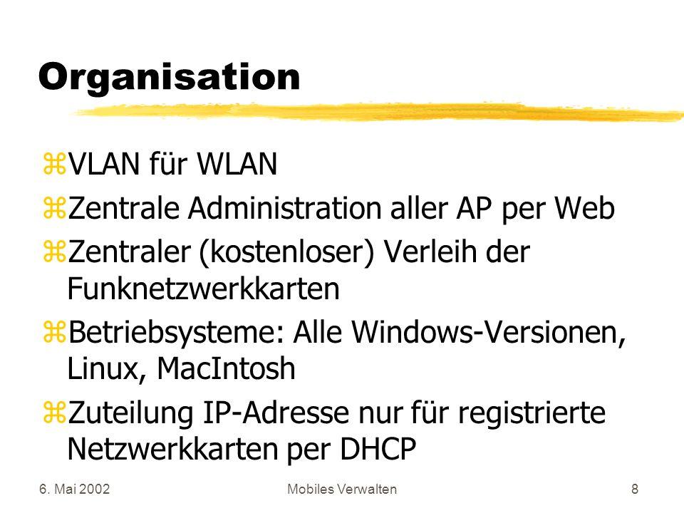 Organisation VLAN für WLAN Zentrale Administration aller AP per Web