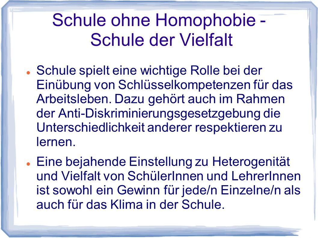 Schule ohne Homophobie - Schule der Vielfalt