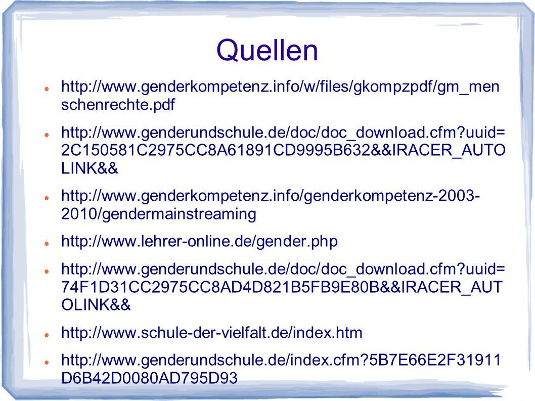 Quellen http://www.genderkompetenz.info/w/files/gkompzpdf/gm_men schenrechte.pdf.