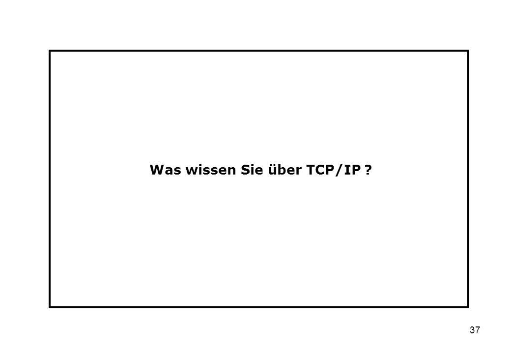 Was wissen Sie über TCP/IP