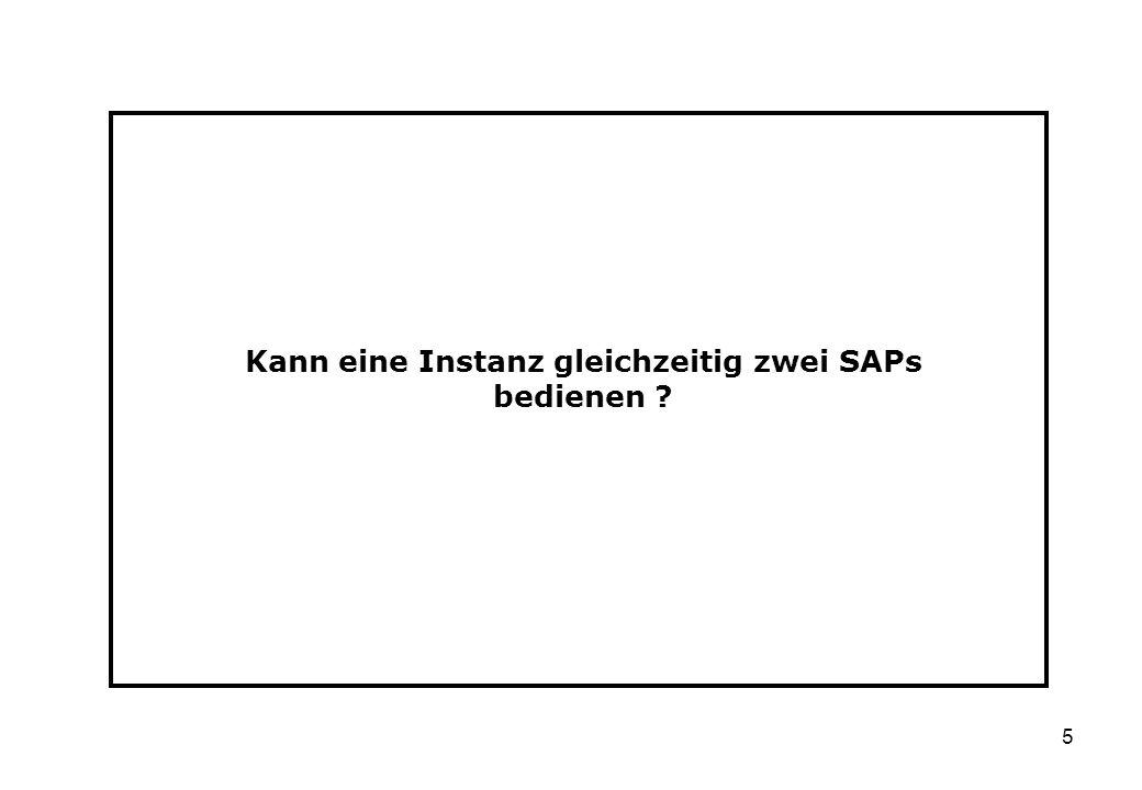 Kann eine Instanz gleichzeitig zwei SAPs bedienen
