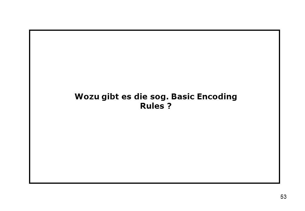 Wozu gibt es die sog. Basic Encoding Rules