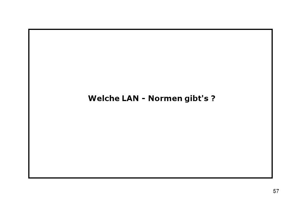 Welche LAN - Normen gibt s