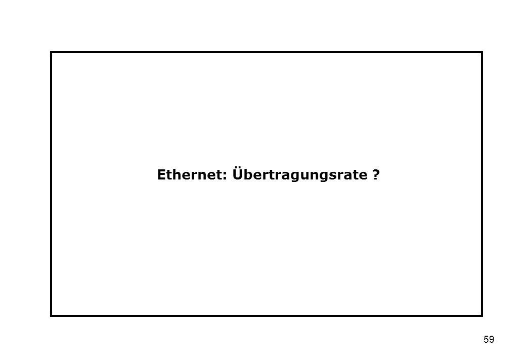 Ethernet: Übertragungsrate