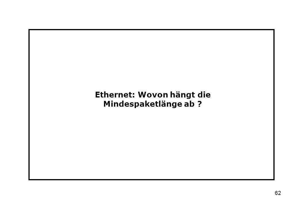 Ethernet: Wovon hängt die Mindespaketlänge ab