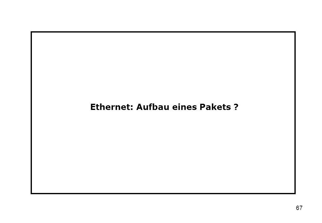 Ethernet: Aufbau eines Pakets