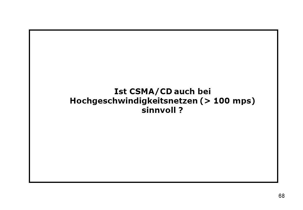 Ist CSMA/CD auch bei Hochgeschwindigkeitsnetzen (> 100 mps) sinnvoll