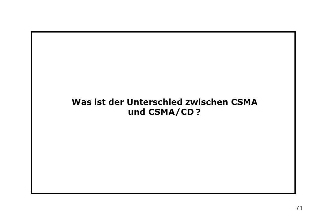 Was ist der Unterschied zwischen CSMA und CSMA/CD