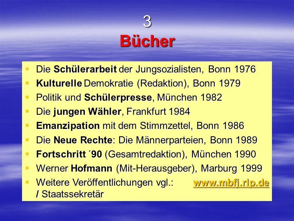 3 Bücher Die Schülerarbeit der Jungsozialisten, Bonn 1976
