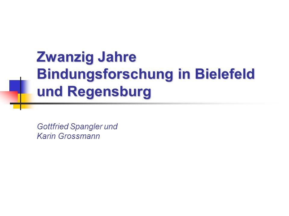Zwanzig Jahre Bindungsforschung in Bielefeld und Regensburg