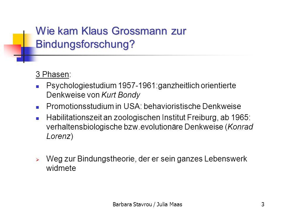Wie kam Klaus Grossmann zur Bindungsforschung