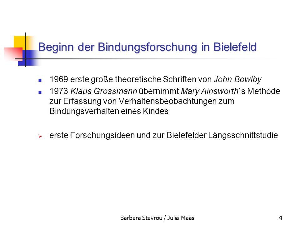 Beginn der Bindungsforschung in Bielefeld