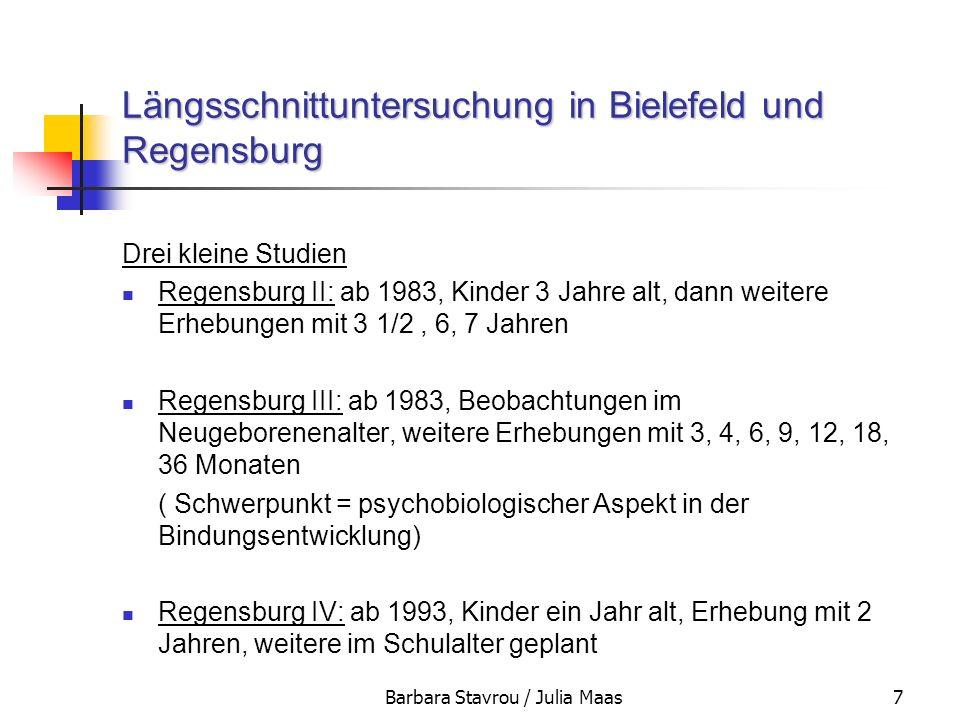 Längsschnittuntersuchung in Bielefeld und Regensburg