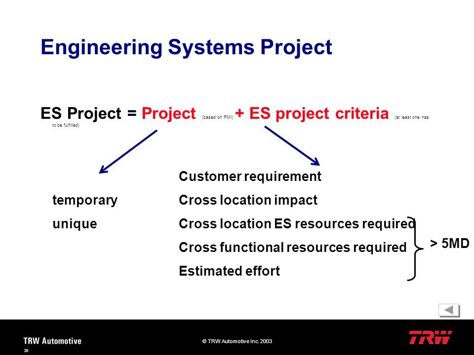 Engineering Systems Project