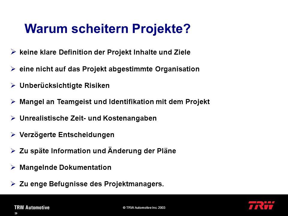 Warum scheitern Projekte