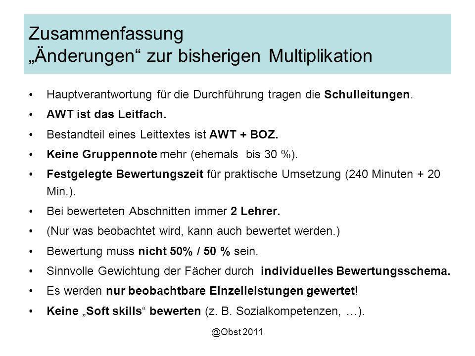 """Zusammenfassung """"Änderungen zur bisherigen Multiplikation"""
