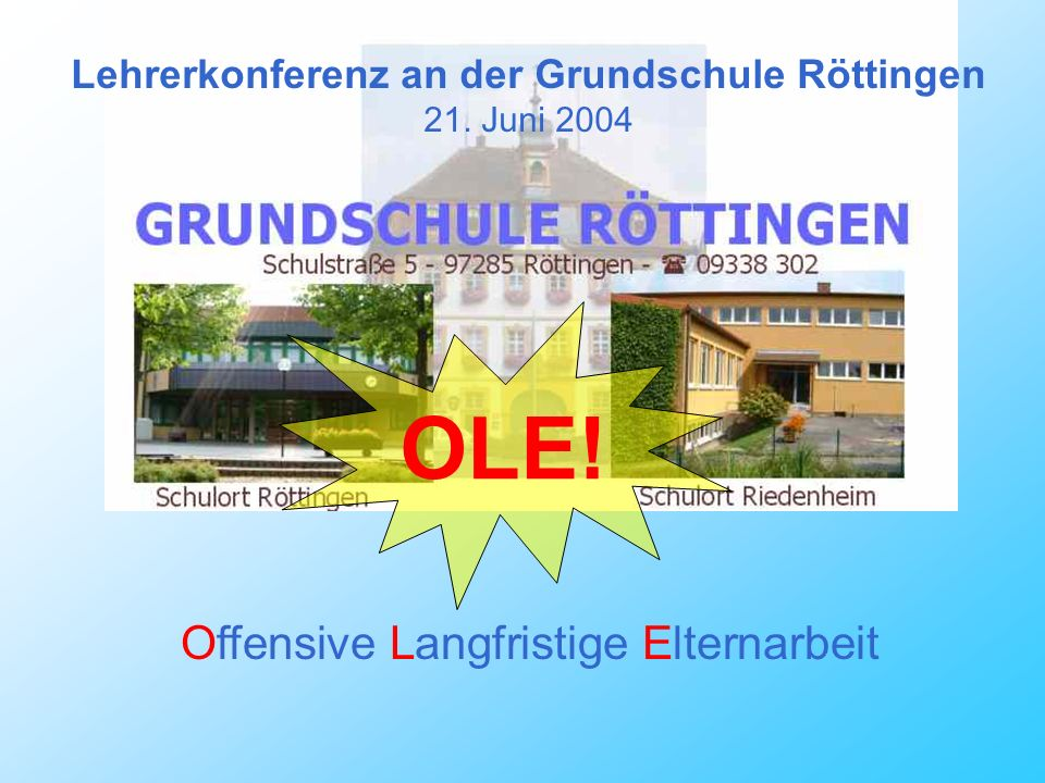 Lehrerkonferenz an der Grundschule Röttingen