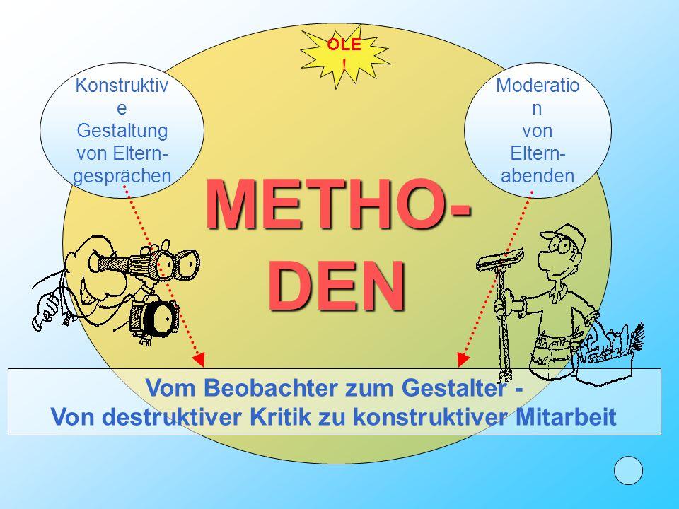 METHO- DEN Vom Beobachter zum Gestalter -