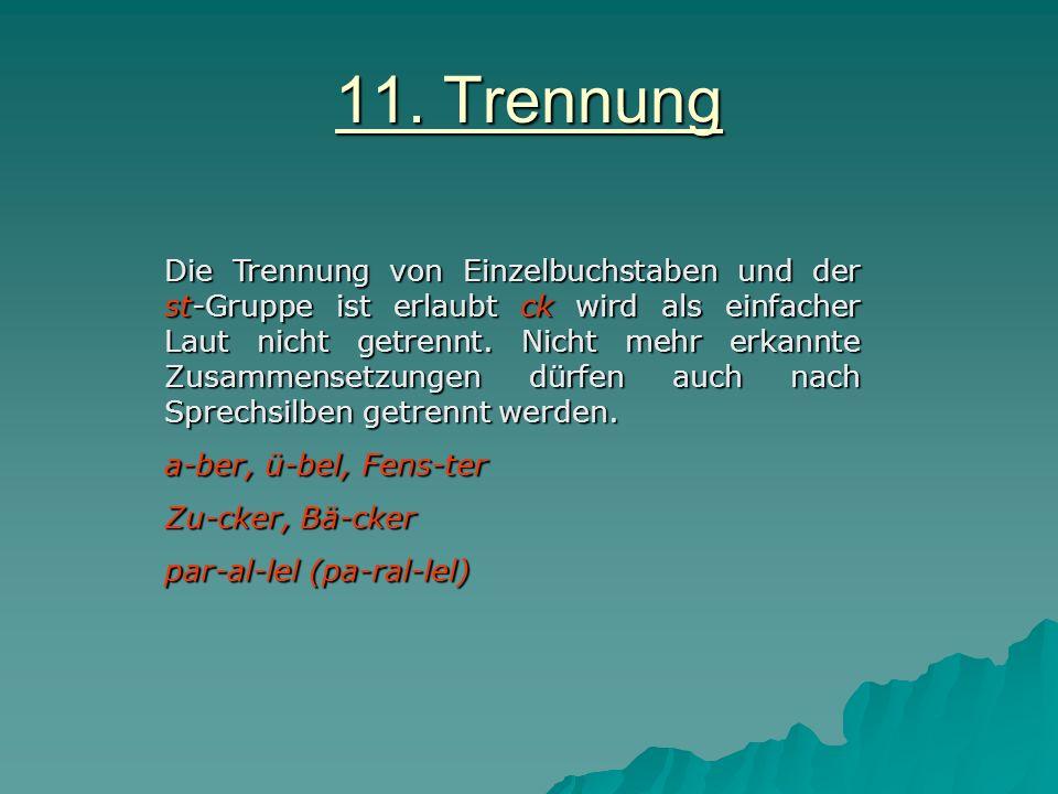 11. Trennung
