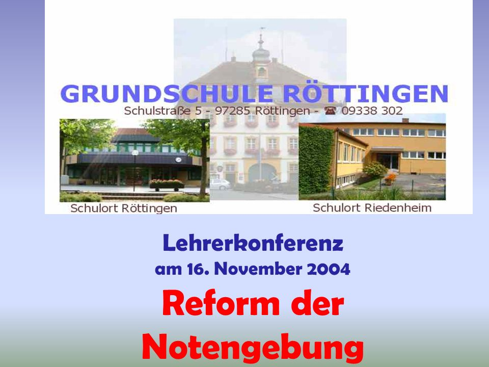 Reform der Notengebung