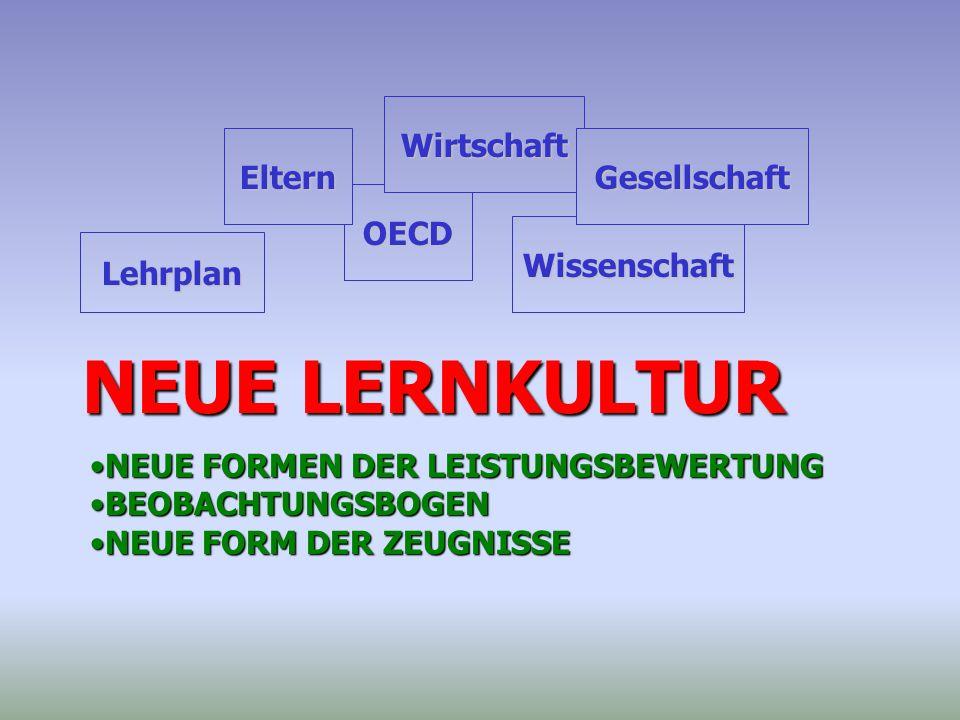 NEUE LERNKULTUR Wirtschaft Eltern Gesellschaft OECD Wissenschaft